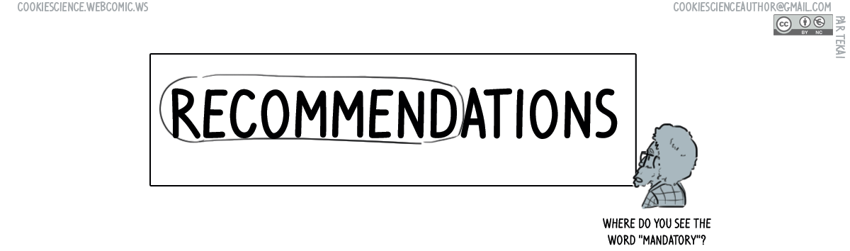 864 - Recommendations, not rules