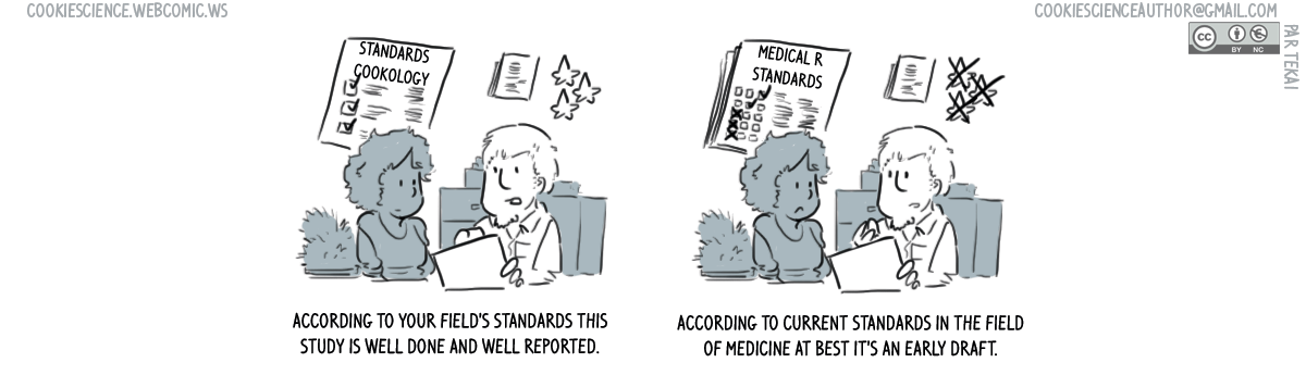 668 - Standards differ between fields of research