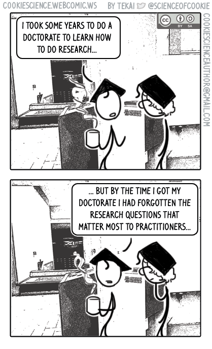 1484 - Academics becoming too remote from clinical practice